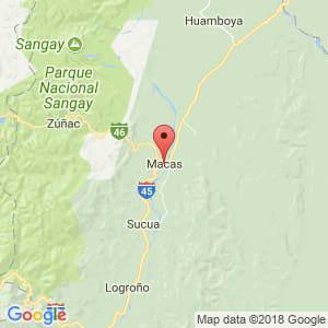 Localización de Macas en Morona Santiago