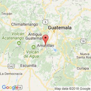 Localización de Amatitlán en Guatemala