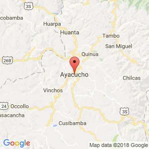 Localización de Ayacucho en Ayacucho