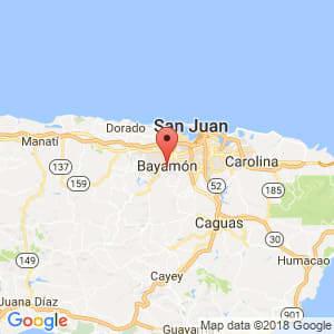 Localización de Bayamón en Guayama