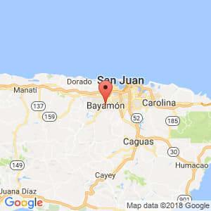Localización de Guaynabo en Bayamón