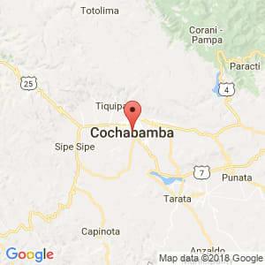 Localización de Cochabamba en Cochabamba