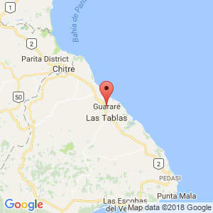 Localización de Guararé en Los Santos