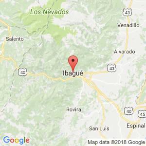 Localización de Ibagué en Tolima