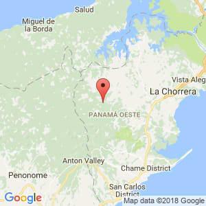 Localización de Capira en Panamá Oeste