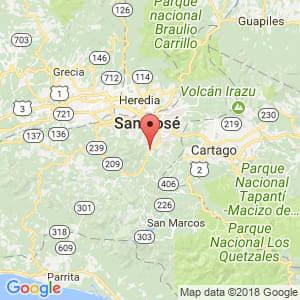 Localización de Aserrí en San José