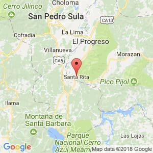 Localización de Santa Rita en Yoro
