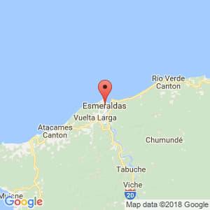 Localización de Esmeraldas en Esmeraldas