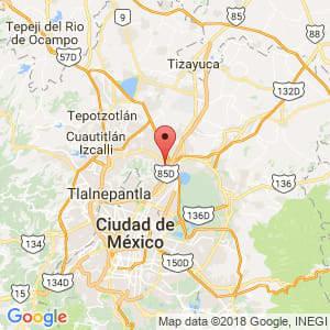 Localización de Ecatepec de Morelos en México