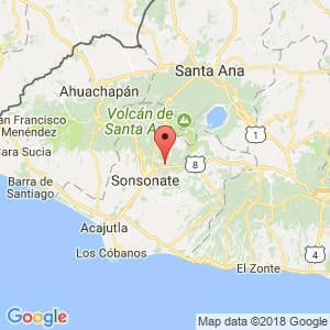 Localización de Izalco en Sonsonate