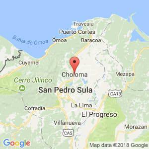 Localización de Choloma en Cortés