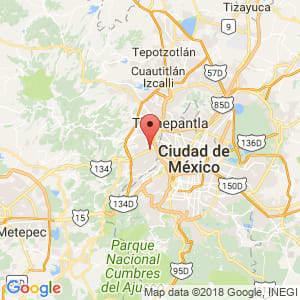 Localización de Naucalpan de Juárez en México