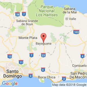 Localización de Bayaguana en Monte Plata