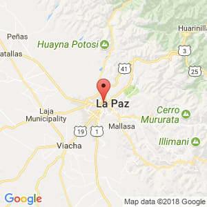 Localización de Desaguadero en La Paz
