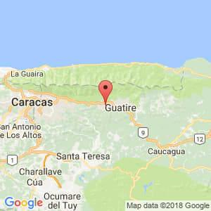 Localización de Guarenas en Miranda