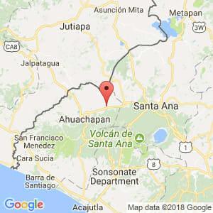 Localización de Atiquizaya en Ahuachapán