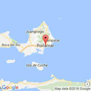 Localización de Porlamar en Nueva Esparta