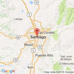 Localización de Santiago en Metropolitana de Santiago