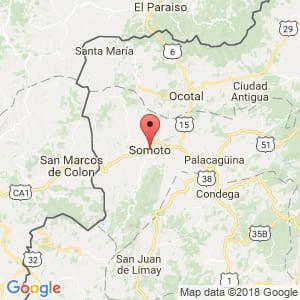 Localización de Somoto en Madriz
