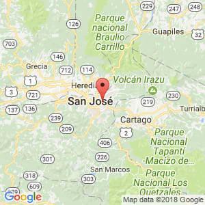 Localización de San Pedro en San José