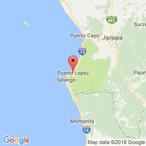 Localización de Puerto López en Manabí