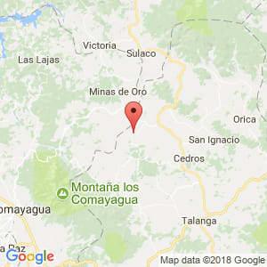 Localización de El Agua Caliente en Francisco Morazán