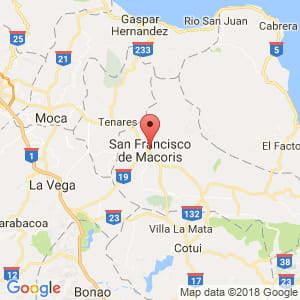 Localización de San Francisco de Macorís en Duarte