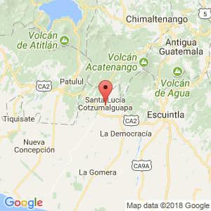 Localización de Santa Lucía Cotzumalguapa en Escuintla
