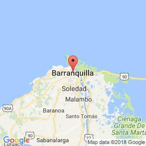 Localización de Barranquilla en Atlántico