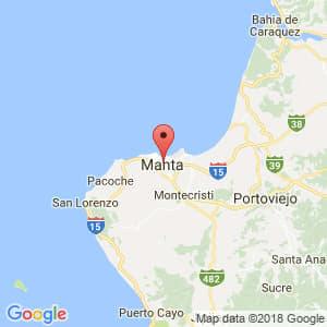 Localización de Manta en Manabí