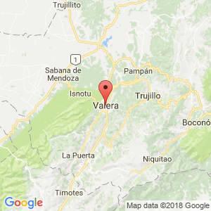 Localización de Valera en Trujillo