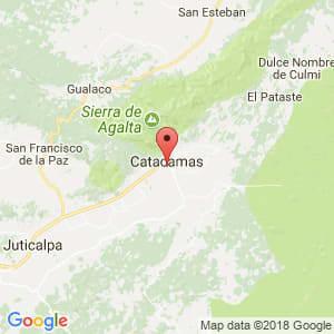 Localización de Catacamas en Olancho