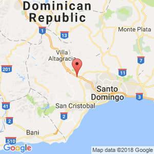 Localización de Pedro Brand en Santo Domingo