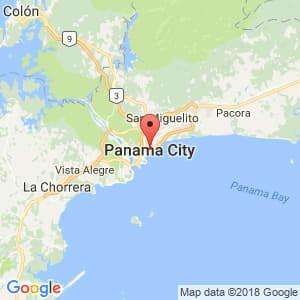 Localización de Panamá en Panamá