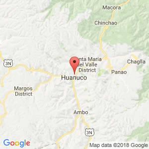 Localización de Miraflores en Huánuco