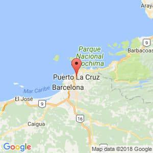 Localización de Puerto La Cruz en Anzoátegui