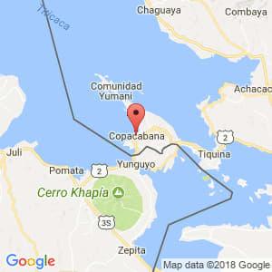 Localización de Copacabana en La Paz