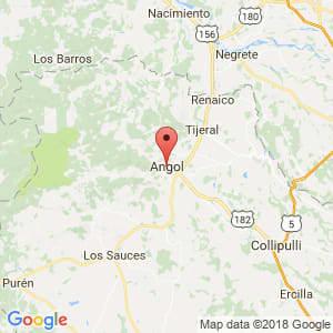 Localización de Angol en La Araucanía