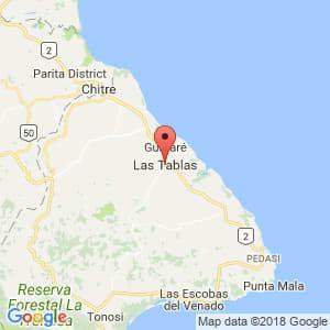 Localización de Las Tablas en Los Santos