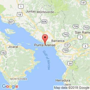 Localización de Puntarenas en Puntarenas