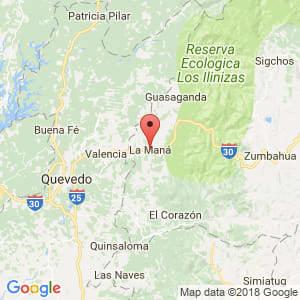Localización de La Maná en Cotopaxi