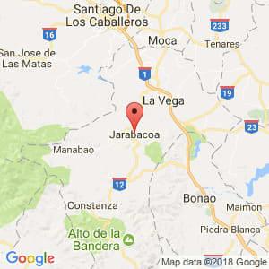 Localización de Jarabacoa en La Vega