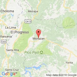 Localización de Morazán en Yoro