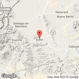 Localización de Achiri en La Paz