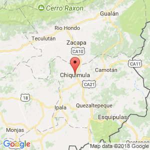 Localización de Chiquimula en Chiquimula