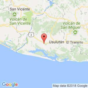 Localización de Jiquilisco en Usulután