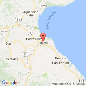 Localización de Chitré en Herrera