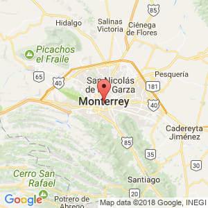 Localización de Monterrey en Nuevo León
