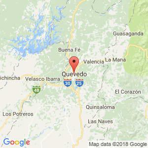 Localización de Quevedo en Los Ríos