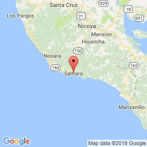 Localización de Sámara en Guanacaste